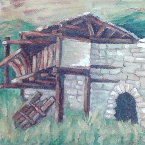 """Oblivion, Oil Painting 7x10"""" (19x27cm)"""