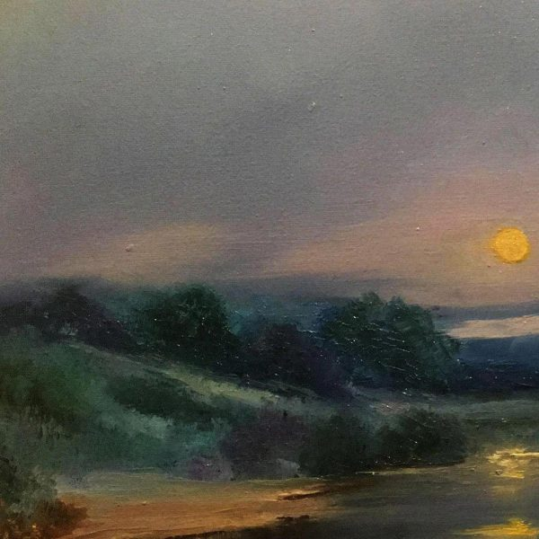 The Rising of the Moon, Oil Painting by Elena Velichkova