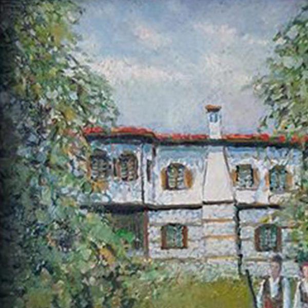 House in Zlatograd, Oil Painting by Veselin Nikolov