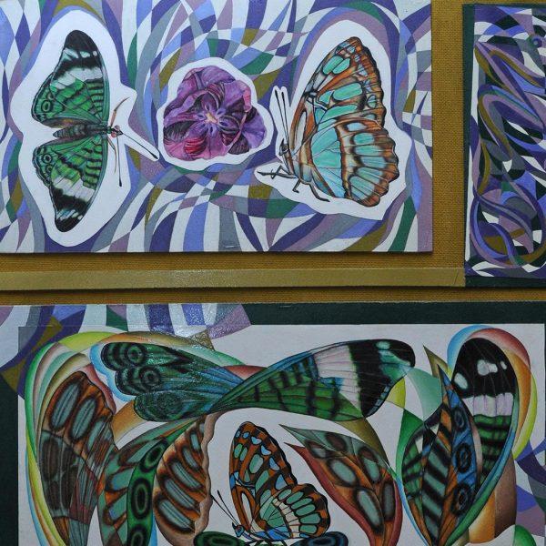 Butterflies, Tempera Painting by Iva Donkova