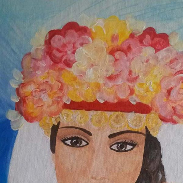 "Lazarka, Acrylic Painting 16x12"" (40x30cm)"