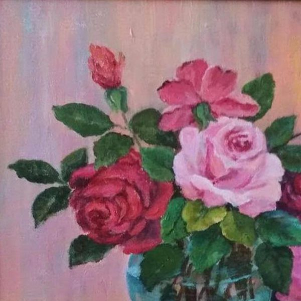 Roses, Acrylic Painting by Elena Velichkova