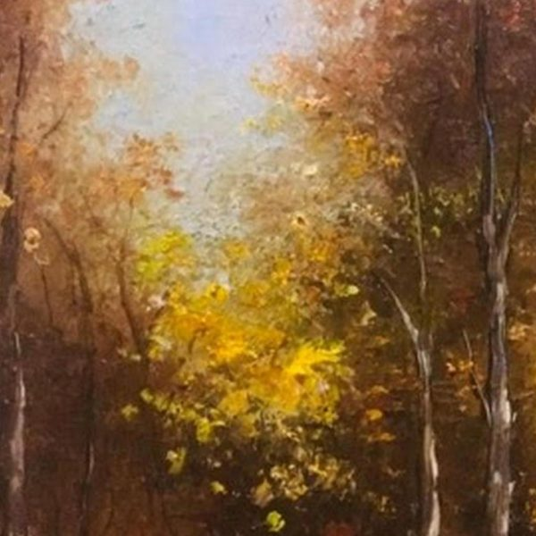 Park in the Fall, Oil Painting by Elena Velichkova