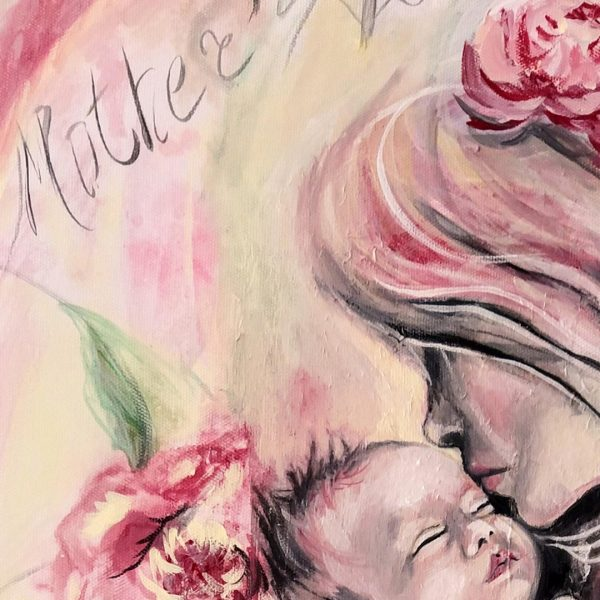 Mother's Love, Tempera Painting by Milena Valkanovа