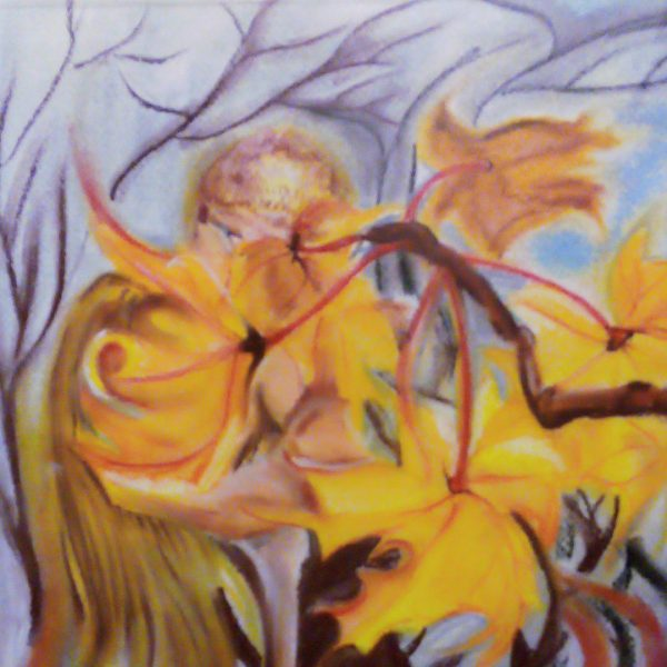 Fiery Autumn, Dry Pastel Painting by Magdalena Peycheva
