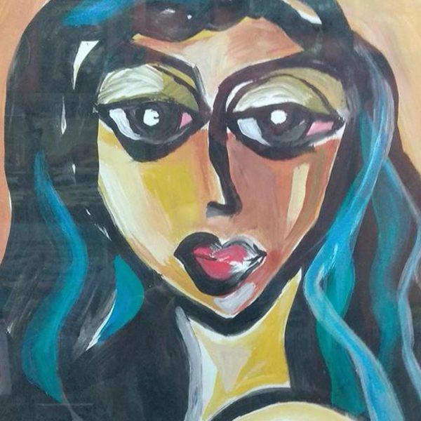 "Patricia, Acrylic Painting 18x26"" (45x65cm)"