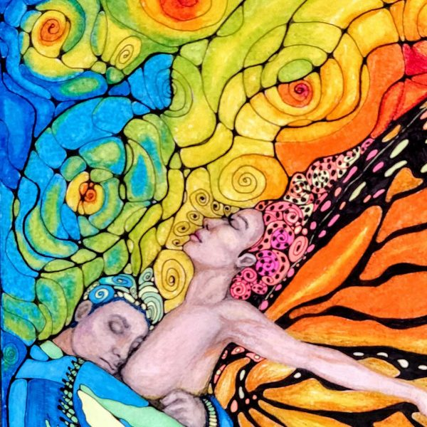 From the Relationship Cycle, Oil Pastel Painting by Milena Valkanova