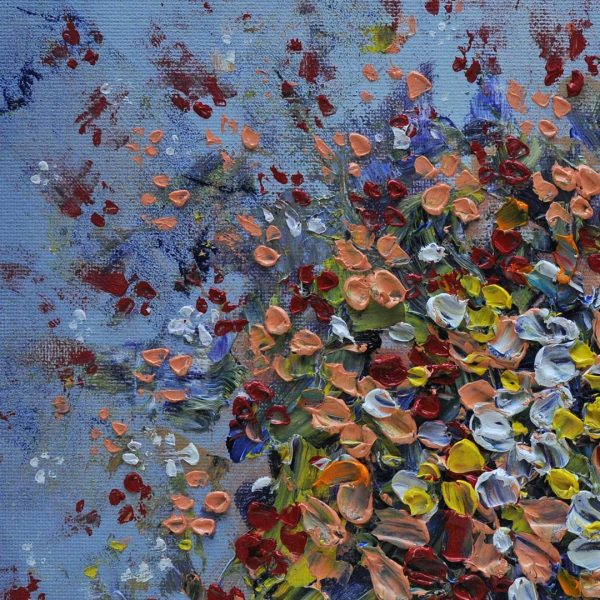 Falling Flowers, Oil Painting by Iva Donkova