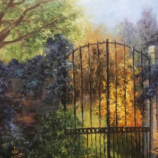 The Closed Door, Oil Painting by Elena Velichkova