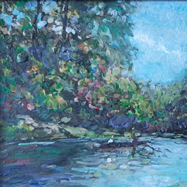River, Mixed Painting by Veselin Nikolov