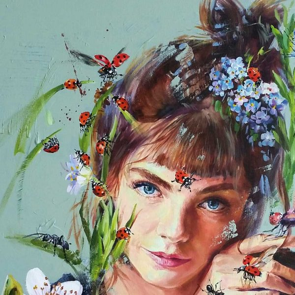 Spring, Oil Painting 32x26 in / 81x65 cm