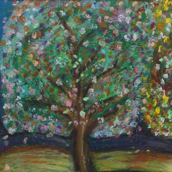 """Landscape, Oil pastels Painting 12x16"""" (31x41cm)"""