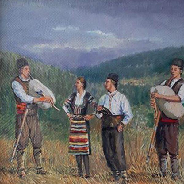 Rhodope Song, Oil Painting by Veselin Nikolov