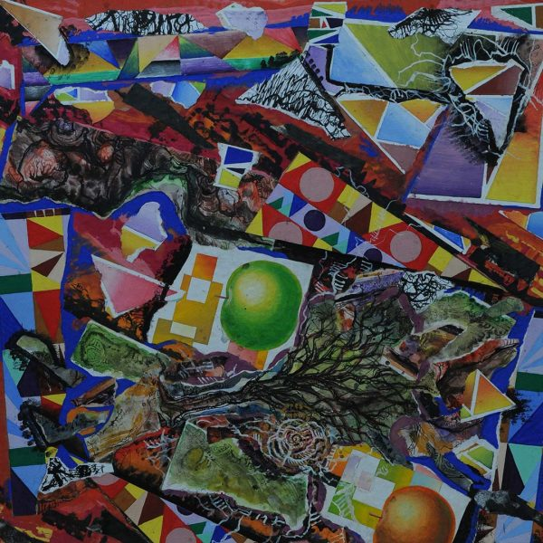 Tree, Collage Painting by Iva Donkova