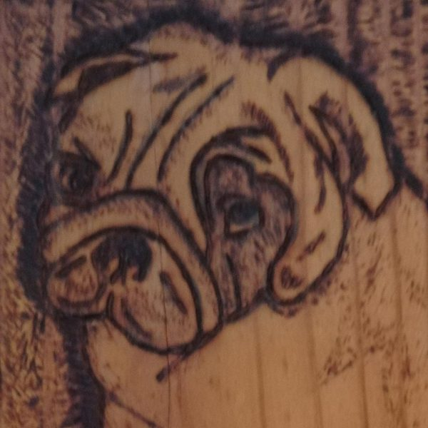 "Dog, Pyrophaphy Wooden Artwork 8x6"" (20x14cm)"