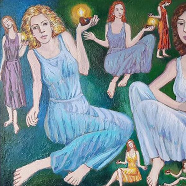 The Parable of the 10 Virgins, Oil Painting by Veselin Nikolov