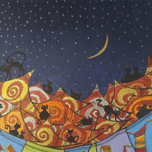 "Cat Walk, Acrylic Ink Painting 16x12"" (40x30cm)"
