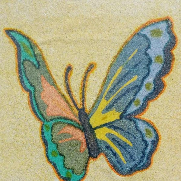 Butterfly, Acrylic Painting 18x13 in / 46x33 cm