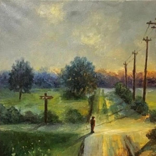 At the Crossroads, Oil Painting by Elena Velichkova