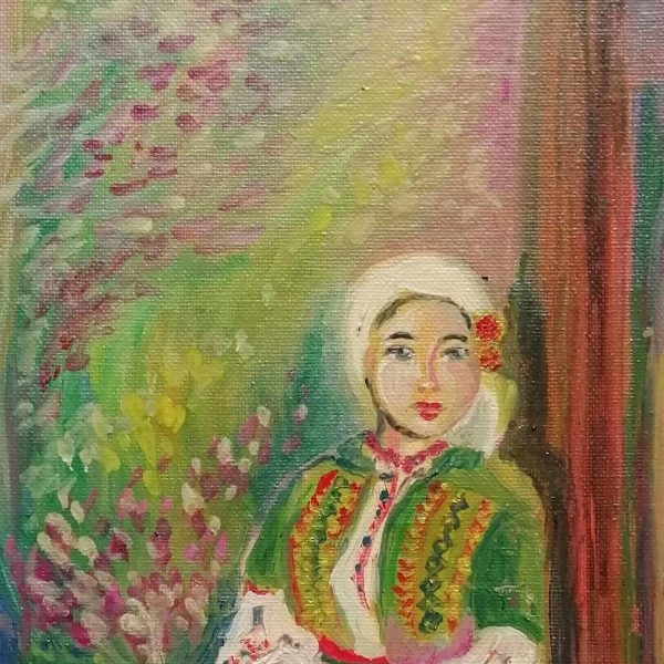 Rodopchanka, Oil Painting 13x11 in / 33x28 cm