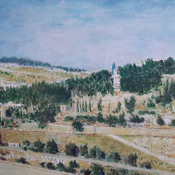 Israel Landscape, Mixed Painting by Veselin Nikolov