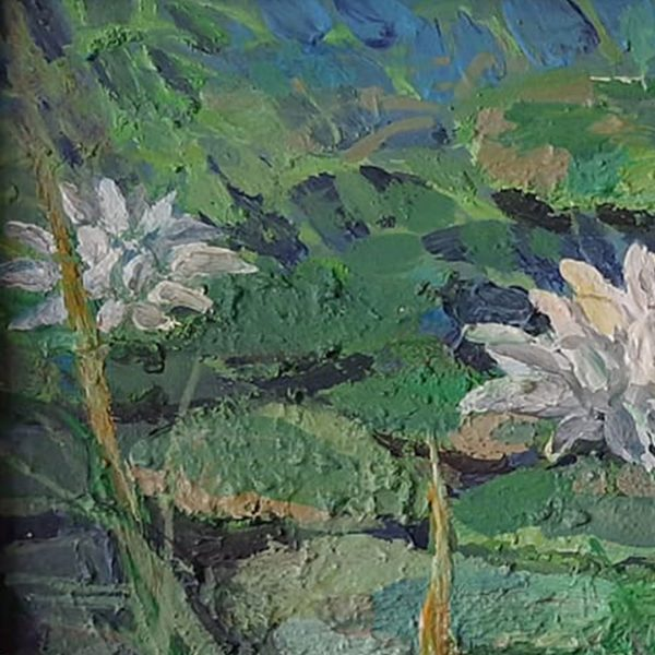 Water Lillies, Acrylic Painting by Veselin Nikolov