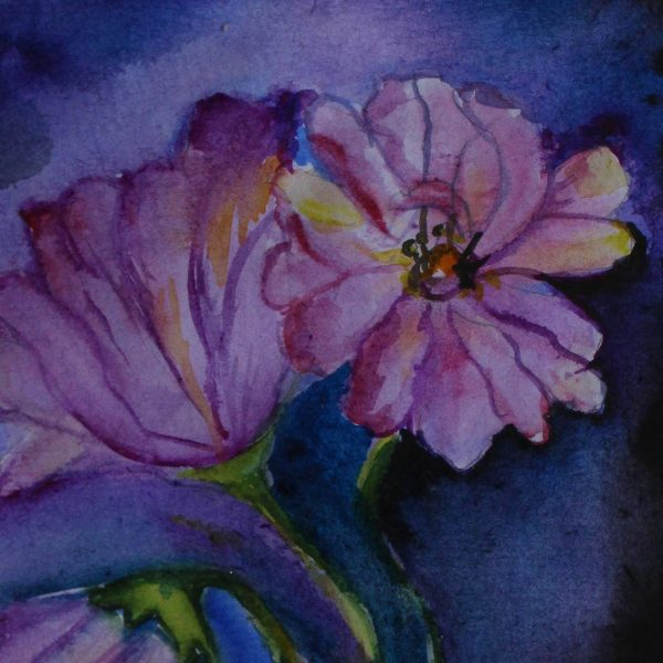 """Flowers, Water Colour Painting 12x16"""" (19x25cm)"""