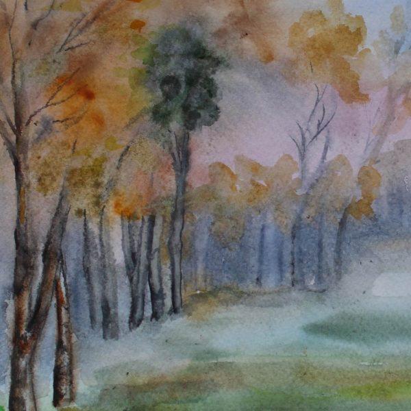 """Autumn, Water Colour Painting 12x16"""" (31x41cm)"""