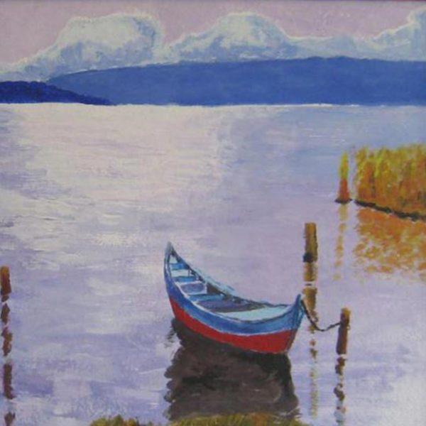 "Violet Glow, Oil Painting 16x12"" (42x32cm)"
