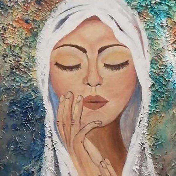 Humility, Acrylic Painting by Hristina Aitova