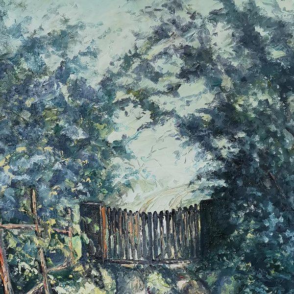 The Old Door Oil Painting by Georgi Paunov - Son