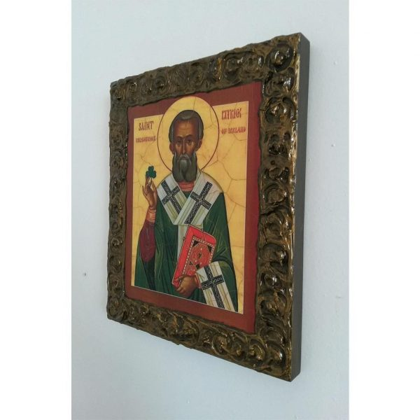 """Saint Patrick"" Christian Icon 10x8"" (24x20cm)"