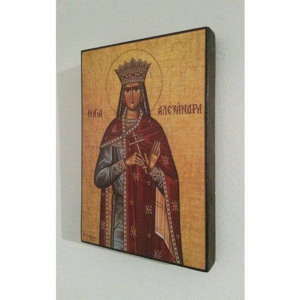 "Saint Alexandra, Christian Icon 6x4"" (16x11cm) - Artastate"