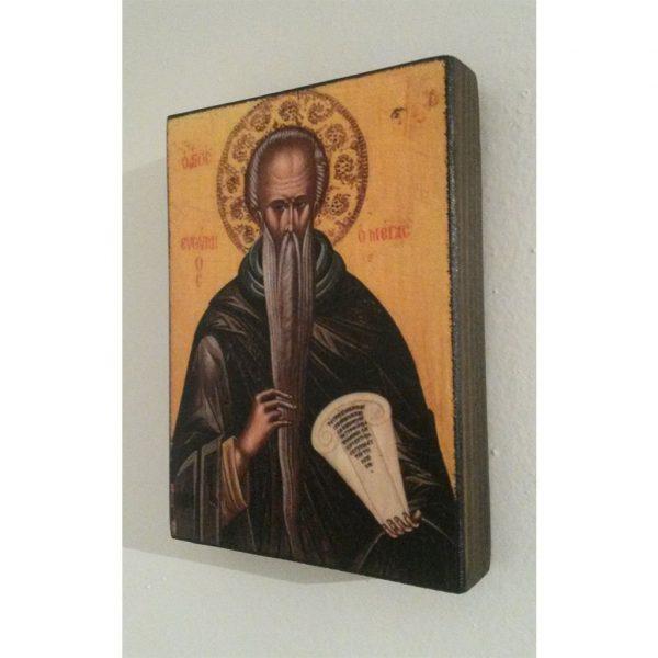"""Saint Euthymius, Christian Icon 4x3"""" (11x8cm) - Artastate"""