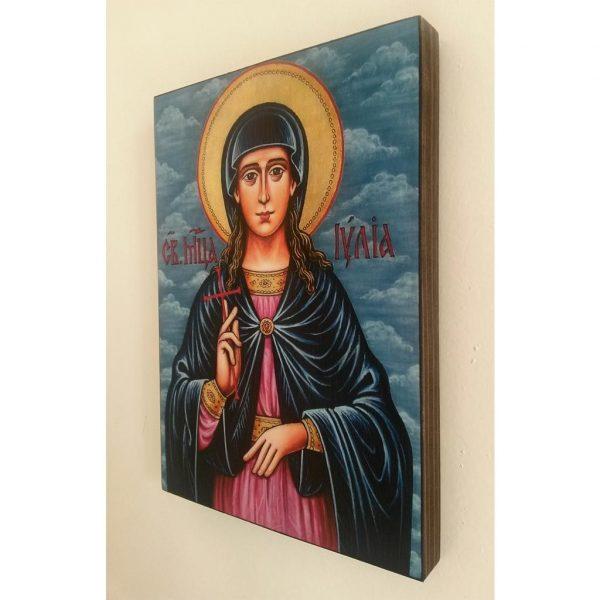 "Saint Juliana, Christian Icon 8x6"" (21x15cm) - Artastate"