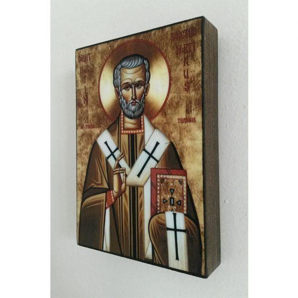 "Saint Martin, Christian Icon 4x3"" (11x8cm) - Artastate"