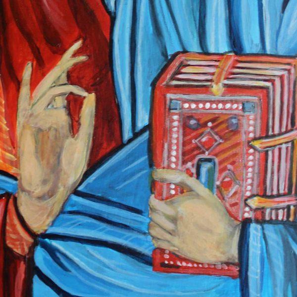 Jesus Christ, Christian Icon 12x8 in / 30x20 cm