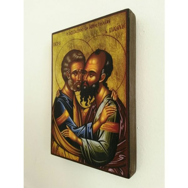 """Peter and Paul, Christian Icon 6x4"""" (16x11cm) - Artastate"""