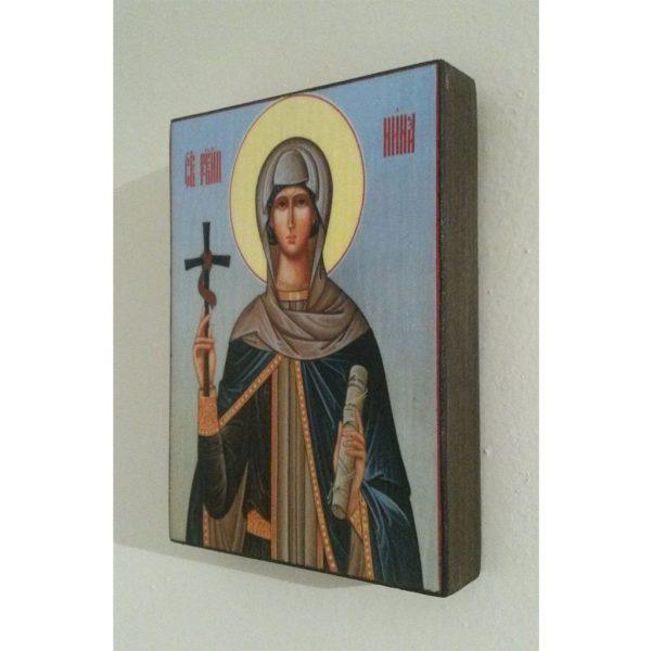 "Saint Nina, Christian Icon 4x3"" (11x8cm) - Artastate"
