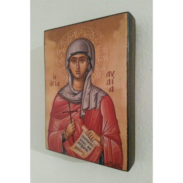 """Saint Lidia. Christian Icon 4x3"""" (11x8cm) - Artastate"""