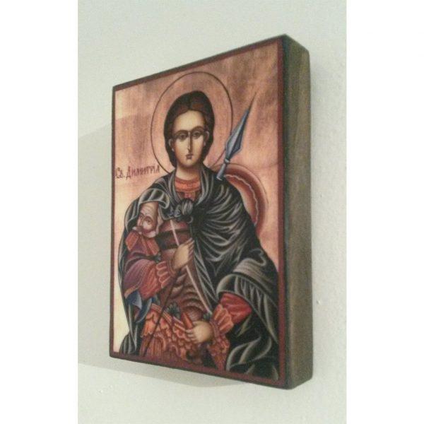 "Saint Demetrius, Christian Icon 4x3"" (11x8cm) - Artastate"