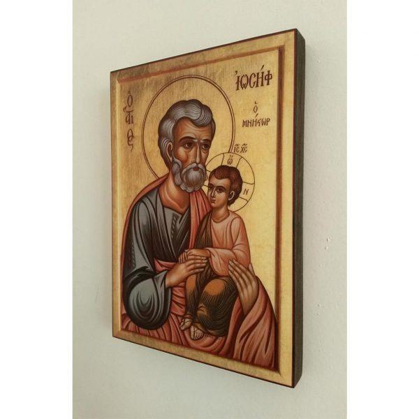 "Saint Joseph, Christian Icon 8x6"" (21x15cm) - Artastate"