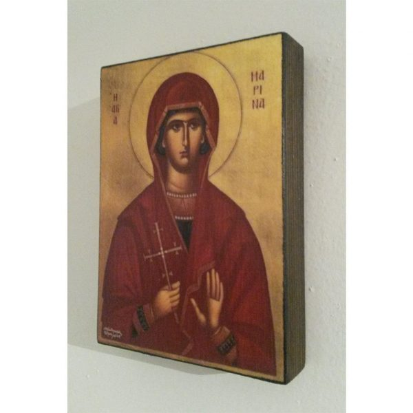 "Saint Marina, Christian Icon 4x3"" (11x8cm) - Artastate"