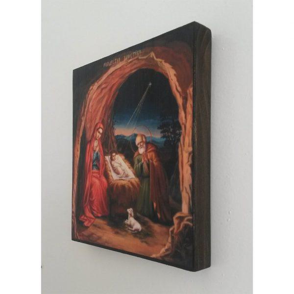 "Nativity, Christian Icon 6x6"" (16x15cm) - Artastate"