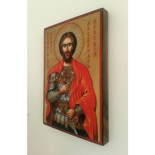 "Saint Alexander Nevsky, Christian Icon 4x3"" (11x8cm) - Artastate"