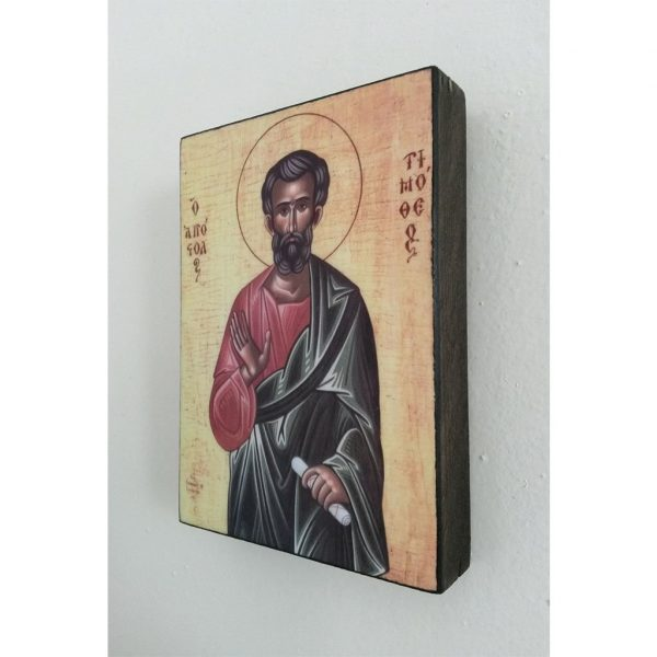 """Saint Timothy"" Christian Icon 4x3"" (11x8cm)"