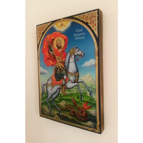 """Saint Theodore Tyrone"" Christian Icon 8x6"" (21x15cm)"