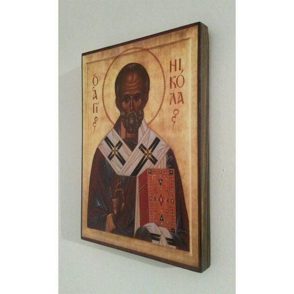 "Saint Nicholas, Christian Icon 8x6"" (21x15cm) - Artastate"