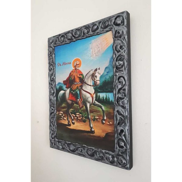 "Saint Menas, Christian Icon 10x8"" (26x20cm)"
