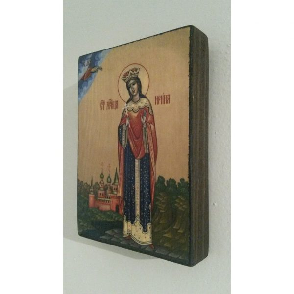 "Saint Irene, Christian Icon 4x3"" (11x8cm) - Artastate"
